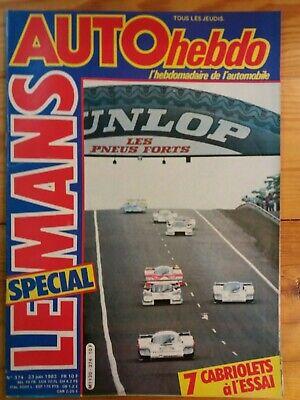 AUTOhebdo - Année 1983 - Lot n°3 de 5 n° - Très bon état