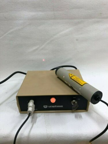 Uniphase 1205-1 Laser Power Supply with Key and Laser Head