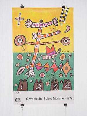 Poster Plakat - Olympiade 1972 München - Alan Davie - Pop Art