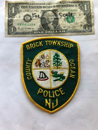 Brick Township New Jersey Police Patch (Ocean County) un-sewn in Great Shape
