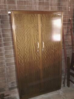 50s timber woodrobe