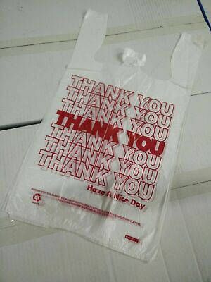 Thank You T-shirt Bags 11.5 X 6 X 21 White Plastic Shopping Bags 16 Bags