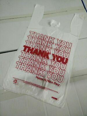 Thank You T-shirt Bags 11.5 X 6 X 21 White Plastic Shopping Bags 16 Bags