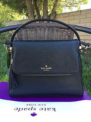 Kate Spade Miri Chester Street Black Satchel Handbag Crossbody Bag Leather  328