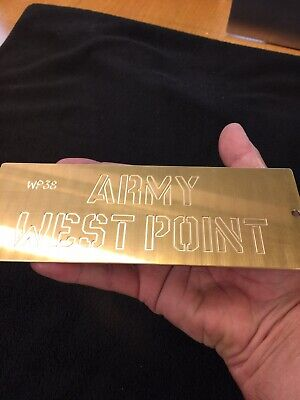 Master Template Of West Point M.a. Letters Solid Brass For New Hermes Font Tray