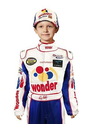 Ricky Bobby KIDS CHILD NASCAR Jumpsuit + Cap Full Costume TALLADEGA NIGHTS