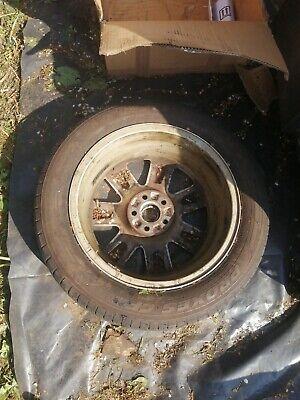 "4 GENUINE AUDI TT MK1 16"" 5X100 9 SPOKE RS4 ALLOY WHEELS & TYRES VW GOLF BORA A1"