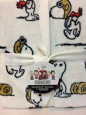 Peanuts Snoopy Red Baron Flying Ace FULL QUEEN Fleece Blanket 90