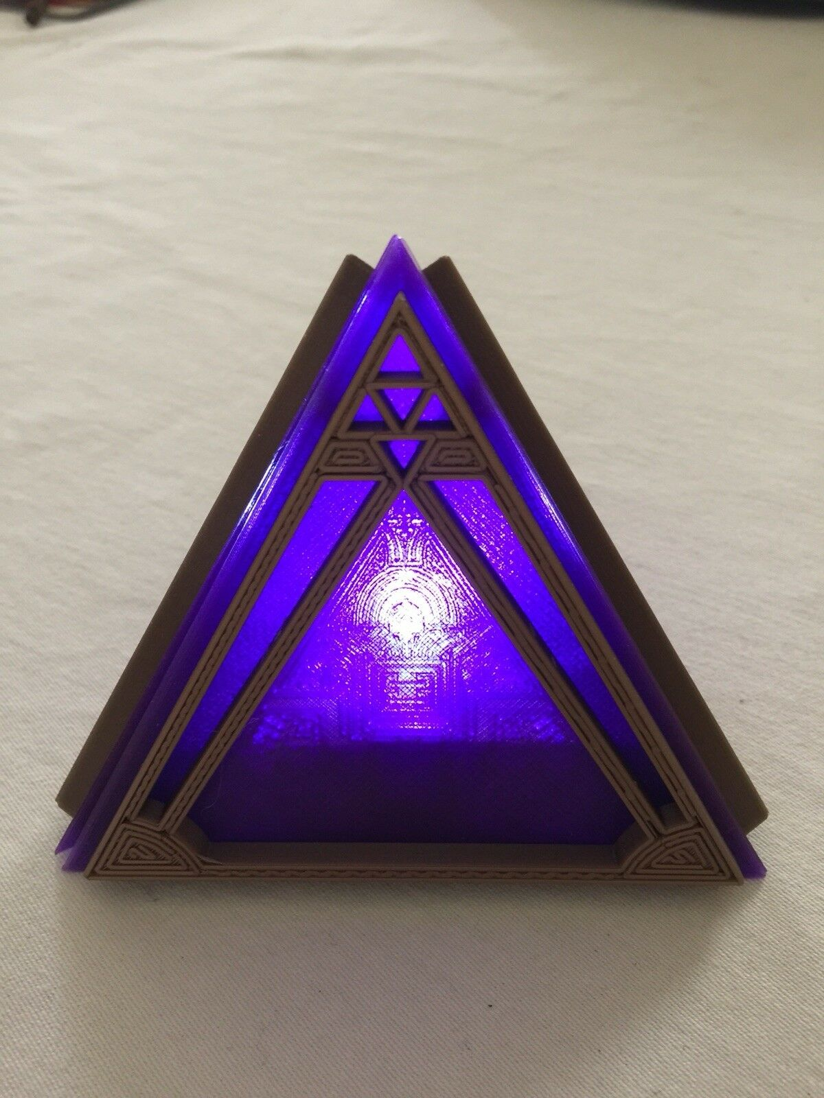 Replica Star Wars Sith Holocron 3D Printed. LIGHTS UP!!