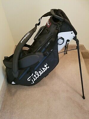 Titleist 4 way STA DRY stand/carry golf bag black/white EXCELLENT