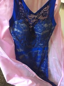 Blue and nude lace dress