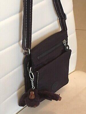💜 Kipling Bag With Monkey 🐒 Excellent Condition❣️Shoulder Cross Body Bag 💕