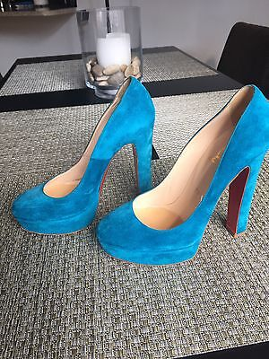 "Christian Louboutin ""Bibi"" Turquoise Size 37 - *GREAT CONDITION*"