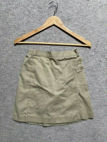 EDUCATIONAL OUTFITTERS Beige SKORT sz 10 Girls School Uniform Shorts Skirt