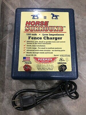 Parmak Horse Surround 110 Volt Fence Charger Model Hs-100 New