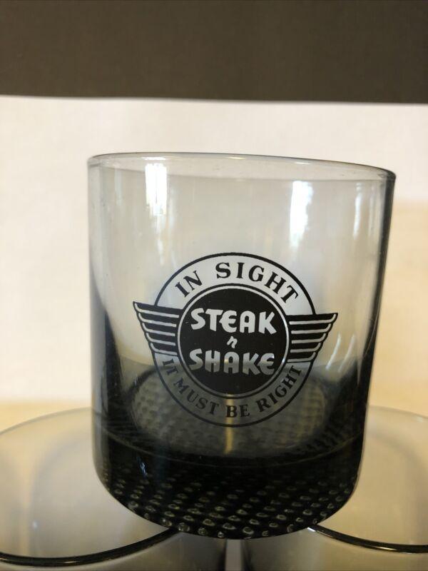 Steak & Shake logo highball glasses- set of 4