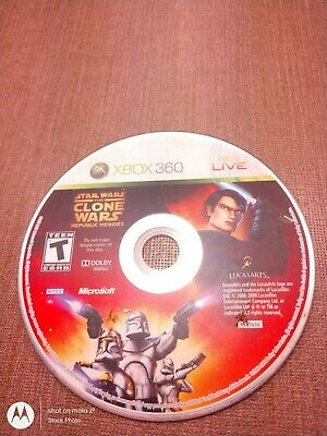 Microsoft Xbox 360 Disc Only Tested Star Wars The Clone Wars Republic