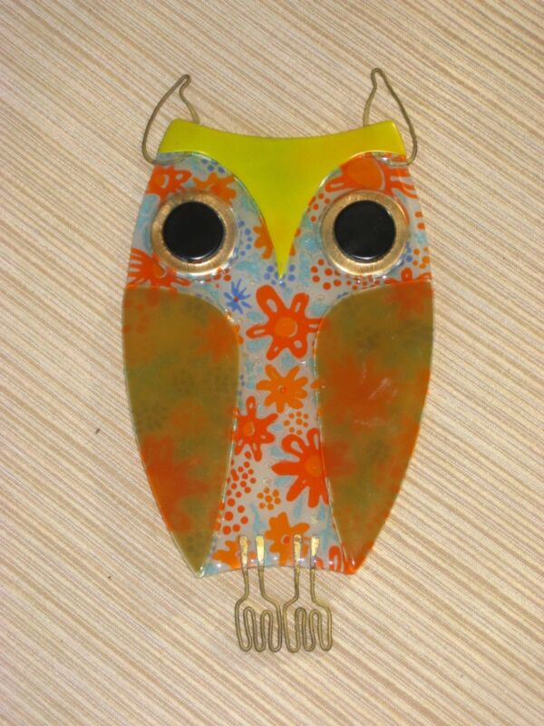 Higgins Glass Owl Signed Uber-Rare!  Beautiful piece!  Mid century Modern Beauty