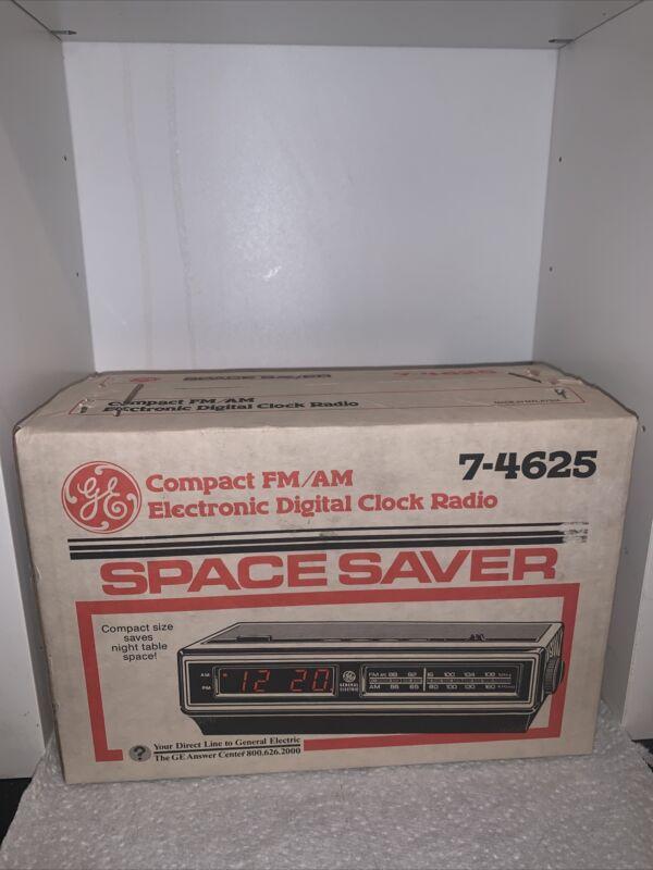 GE General Electronic  Vintage AM/FM Digital Clock Radio 7-4625 NEW Sealed