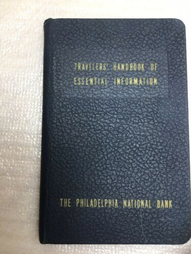 1954 PHILADELPHIA NATIONAL BANK TRAVELERS HANDBOOK OF ESSENTIAL TRAVEL RARE - $5.00