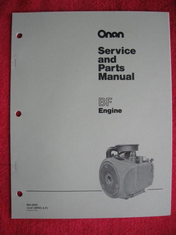 ONAN BF ENGINE SERVICE & PARTS MANUAL