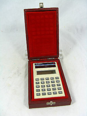Orignal boxed 80´s  calculator Taschenrechner SHARP EL - 345 solar   working