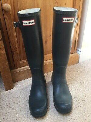 Hunter Women's Navy Blue Wellington Boots Wellies UK 6 EUR 39