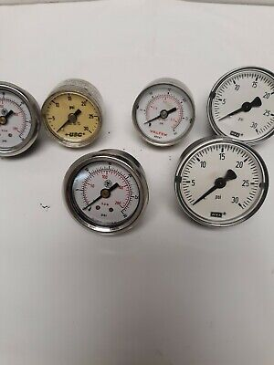 Great For Steampunk Art Materials- Back Connection Pressure Gauges Itl