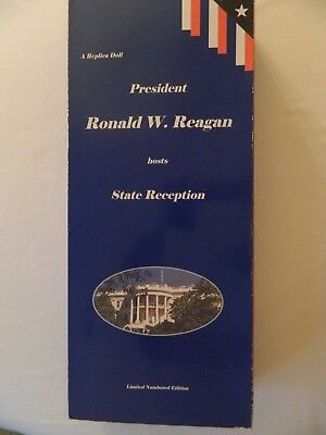 """PRESIDENT RONALD W. REAGAN HOSTS STATE RECEPTION 17"""" DOLL BY HORSMAN NEW"""