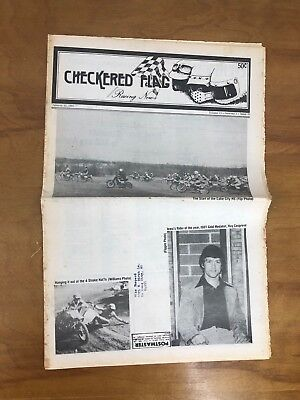 Checkered Flag Racing News Newsletter Paper 1980 Motocross Motorcycle Midwest - Checkered Flag Paper