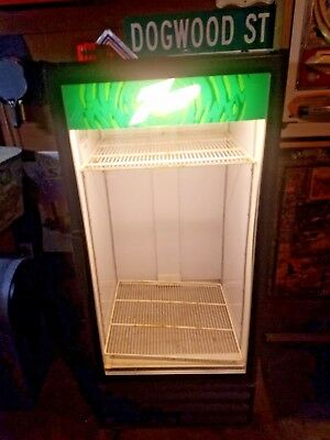 7 Up Refrigerator Beverage Display Case Vintage Soda Man Cave Bar Garage Wow