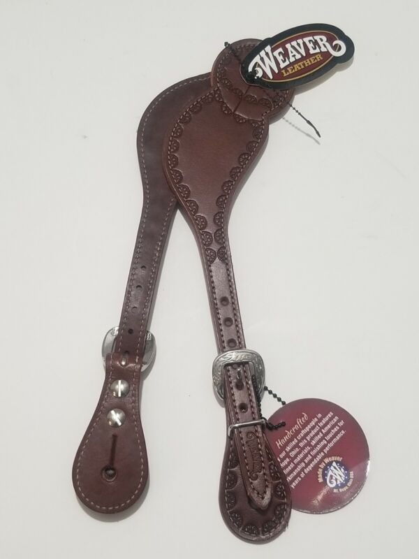 Weaver Leather Hand Tooled Leather Spur Straps, 30-0171 New