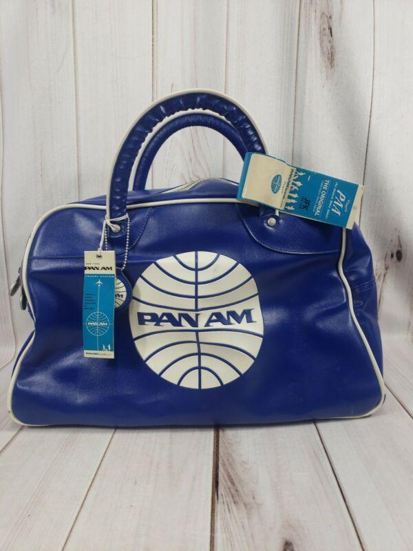 Vintage Pan Am Original Mini Explorer Travel Bag New W/ Tags NOS Bowling Duffle