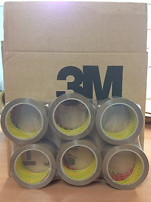 288 ROLLS 3M SCOTCH BUFF / BROWN PACKAGING / PACKING TAPE 48MM X 66M FREE 24H