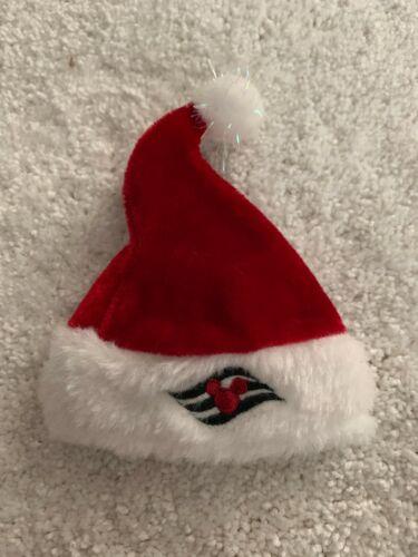 RARE Disney Cruise Line Mini Santa Hat EXCELLENT CONDITION Ornament/keepsake