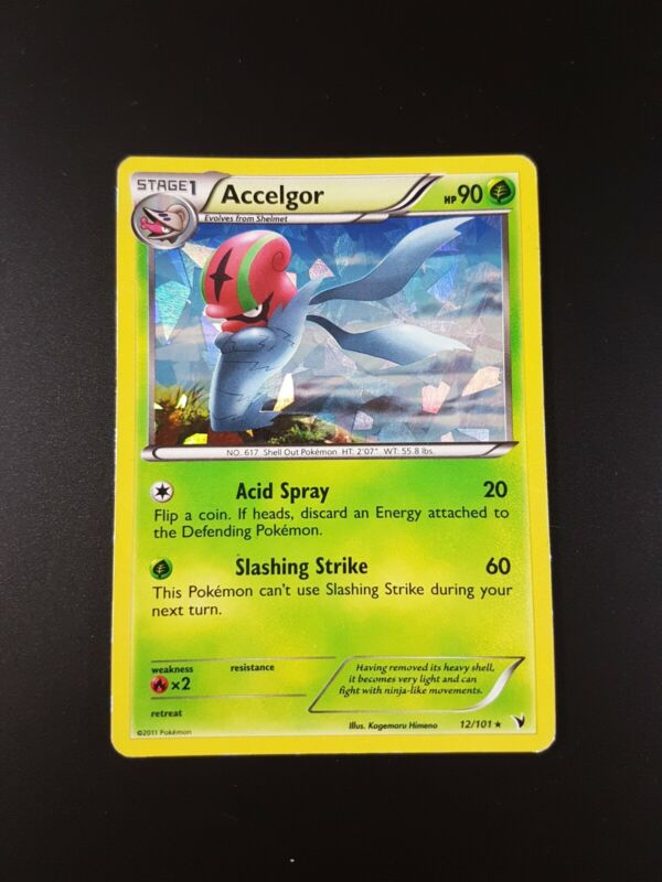 Accelgor Championship Series Promo Holo Rare Pokemon Card Noble Victories Grass