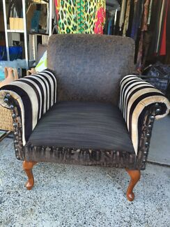 Lovely Reupholstered Vintage Armchair Woy Woy Gosford Area Preview