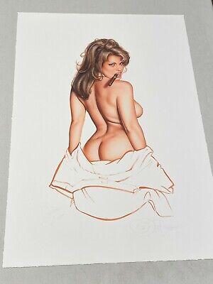 Sandra Taylor Signed Litho Giclee PLAYBOY Very SEXY Artist OLIVIA De Berardinis