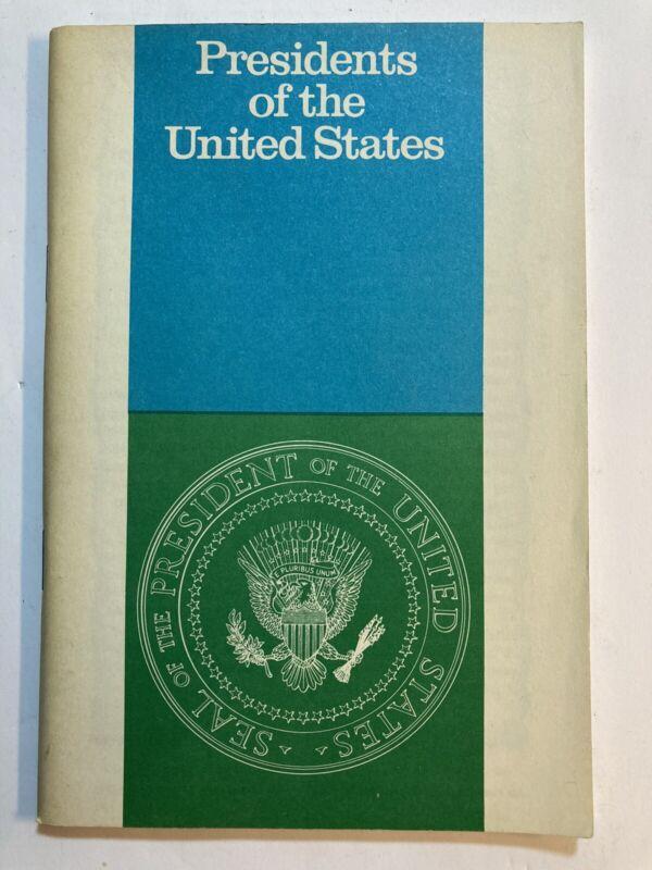 John Hancock Life Insurance Co 1971 Presidents Of The United States Booklet