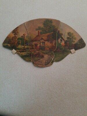 Unique Vintage Quincy, Il., Memorial Sanitarium Fan, Made by Irwin Paper Co