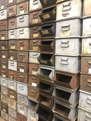 Storage Can All Steel Large 20x10x8 Industrial Stackable Bins Lyon Usa Long