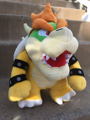 """New Super Mario Brothers Bros. Party Bowser 10"""" Plush Toy Do"""