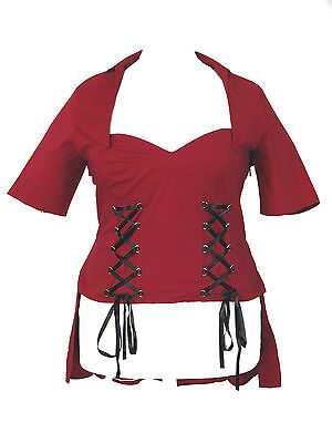Plus Size Red Gothic Double Lace Up Corset Top 1X 2X 3X 4X Double Lace Up Corset Dress