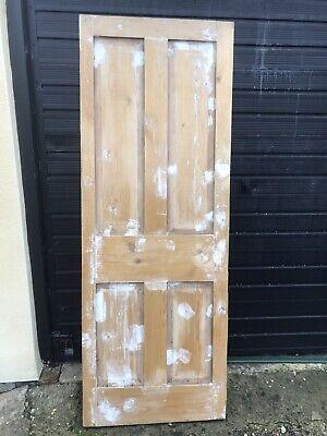 Pine Door 1 1/2 Thick - 27 3/4 X 75 1/4 Top 27 1/2 X 75 Bottom Needs TLC SeePics