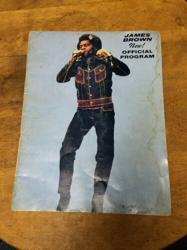 "Vintage 1960s ""James Brown Official Program"" Book 24 Pages Photos & More"