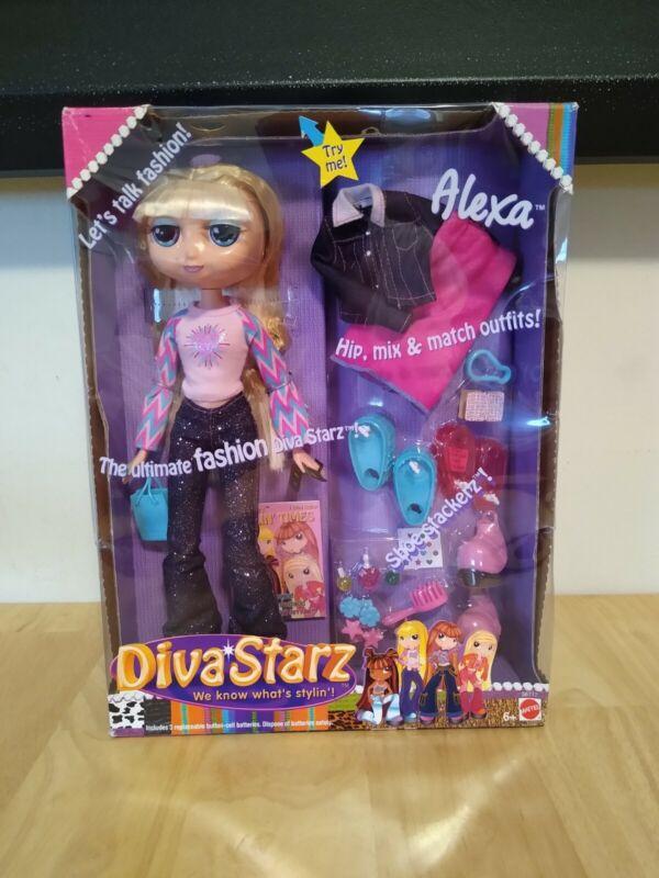 "Mattel Diva Starz Alexa 12"" Talking doll Gift Set Factory Sealed 2002"