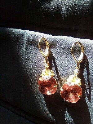 Kirks Folly Red Crystal Drop Earrings New