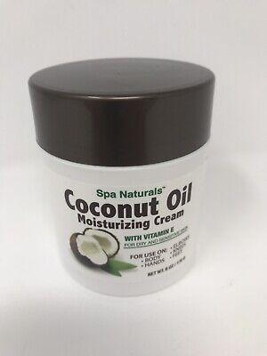 Coconut Oil Moisturizing Cream Vitamin E/Dry Sensitive Skin/Spa Naturals/6 -