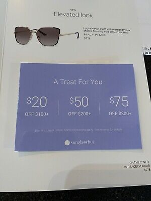 Sunglass Hut COUPON $20 Off $100 / $50 Off $200 Online/In Store EXP April (Sunglass Hut Coupon In Store)