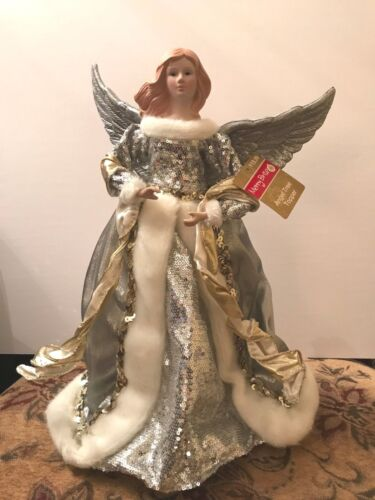 "NWT Merry Brite 16"" Angel Tree Topper"